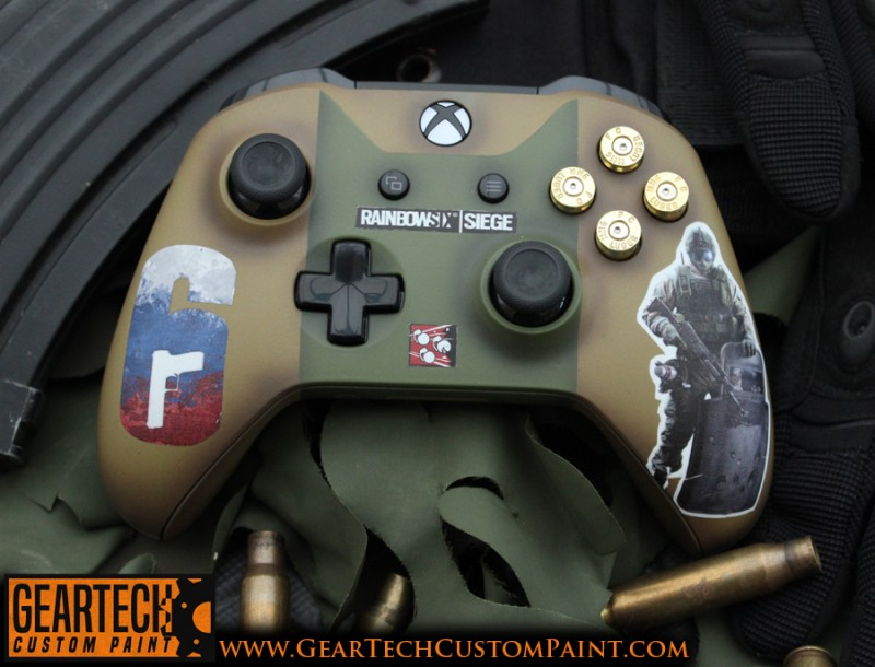 xbox one rainbow 6 siege fuse controller geartech. Black Bedroom Furniture Sets. Home Design Ideas